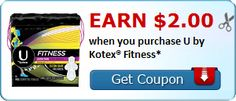 40 Count U By Kotex Fitness Liners for $.97 at Walmart! Normally $2.97