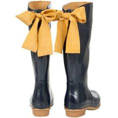 Rainboots with Bows