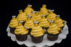 Bee-day party cupcakes...how adorable!