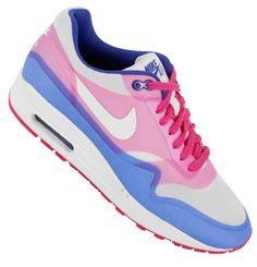 nike air max 1 hyperfuse sail pink force hyper blue 6 Nike WMNS Air Max 1 Hyperfuse Premium   Pink Force   Hyper Blue