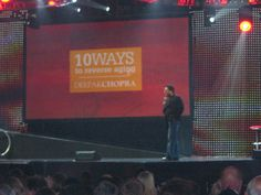 """Deepak Chopra - """"10 ways to Reverse Aging"""" at the launch of his Amalaki formula Zrii in 2008."""