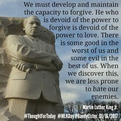 #ThoughtForToday  #MLKDay