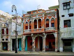 Old #Architecture #Malecon - #Havana's dilapidated buildings soon to be restored #cubatravel http://havanamalecón.com