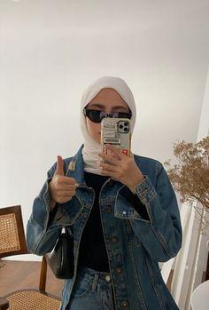 Hajib Fashion, Modern Hijab Fashion, Korean Girl Fashion, Street Hijab Fashion, Hijab Fashion Inspiration, Muslim Fashion, Fashion Outfits, Niqab, Hijab Fashionista