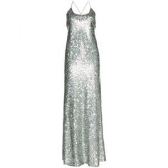 Marc Jacobs Sequin Embellished Dress (11.595 VEF) ❤ liked on Polyvore featuring dresses, gowns, vestidos, long dresses, marc jacobs, pewter, green dress, green sequin dress, green sequin gown and green evening gown