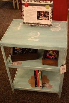 123 Vintage Metal Cart.  Painted with Annie Sloan Chalk Paint