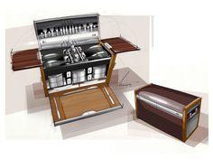 Rolls-Royce bespoke picnic set Design Sketch