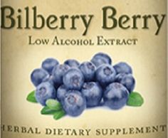BILBERRY BERRY Liquid Extract Herb Tincture for Healthy Eyes & Blood Vessels and Circulation Support USA