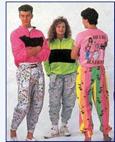 #CLb2s back to school clothes from the 1980s. i find it so funny to see how style has changed. yet, neon is in!