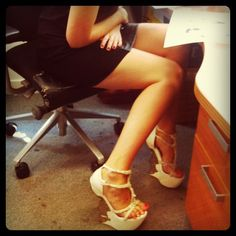 Rocking some Alexander McQueens in the office...