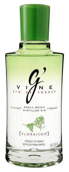 G'Vine Gin from France made with white grapes Gin And Tonic, Vodka, Vines, Perfume Bottles, Cocktails, Packaging, Cosmetics, Beauty, France