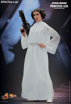 Star Wars: Prinzessin Leia » Typ: Deluxe-Figur (voll beweglich) » Hersteller: Hot Toys » https://spaceart.de/produkte/sw076.php