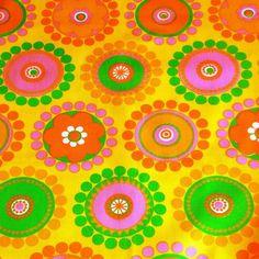 vintage 1960s scandi fabric
