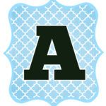 Blue and Black Printable Letters for Banners | DIY SWANK