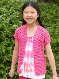 School Photo Day Cover-Up | Yarn | Free Knitting Patterns | Crochet Patterns | Yarnspirations