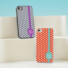 Polka Dot Personalized iPhone Case  These are so cute