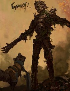 Groot and Rocket Concept Art For Guardians of the Galaxy