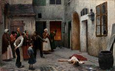 Jakub Schikaneder, Vražda v domě, 1890