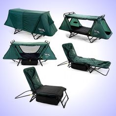 The Kamp-Rite Tent Cot combines a tent, a cot, and a chair, all in one! Perfect for your next outdoor adventure!