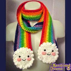 Idea para tejer bufanda multicolor para niños