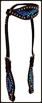 Tribal Basket Stamped Headstall