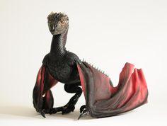 Game of Thrones, Drogon, art doll by FellKunst on DeviantArt