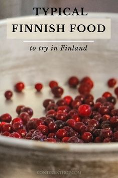 Typical & traditional Finnish Foods to try in Finland Finland Food, Finland Travel, Backpacking Europe, Europe Travel Guide, Finnish Cuisine, Finnish Recipes, Good Foods To Eat, Bons Plans, Red Berries