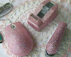 WORKIN THAT NINE-T0-FIVE: #pink #bedazzled #office supplies ...