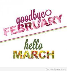 ~j   February March   Goodbye february hello march2016