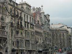 Gaudi homes, Barcelona Spain
