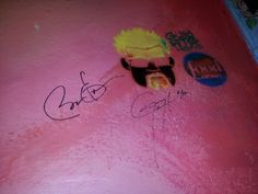 Barack Obama Signs His Name Next to a Guy Fieri Stencil