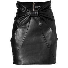 Balmain Leather Mini Skirt ($1,677) ❤ liked on Polyvore featuring skirts, mini skirts, balmain, black, leather miniskirt, high waisted leather skirt, mini skirt, black skirt and short mini skirts