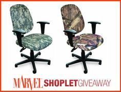 Win an Awesome Marvel Camo Patterened Chair! Here's how to win: Follow Shoplet on Pinterest, repin this post, go to the Shoplet Blog each day November 11th-17th & tell us which camo chair pattern you like best!