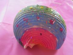 """Learn with Play at home: Painted Pasta Shells. """"Using some left over giant pasta shells, we had fun painting and practicing our fine motor skills, coordination, creativity and imagination."""" See what we used them for!"""