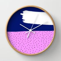 Wall Clock featuring Lucy by Gonpart