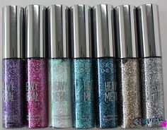 Glam Up Your Look with Urban Decay Heavy Metal Glitter Eyeliners. Pin now, read later! @Ashley Walters Urban Decay #urbandecay #glitter #eyeliners #review #swatches #video