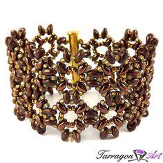 Bransoletka Beaded Elegance - Golden Bronze | Tarragon Art - stylowa biżuteria artystyczna