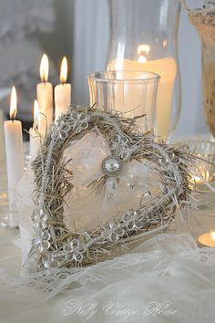 hearts--rustic yet still elegant.