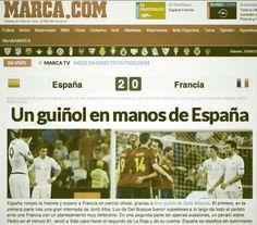 arrás marca.com y su visión de la victoria de La Roja frente a Francia en la Eurocopa: 'Un guiñol en manos de España'