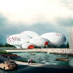 Architecture and planning firm MVRDV of Rotterdam, the Netherlands, has revealed its winning design for the China Comic and Animation Museum in Hangzhou, China. Inspired by speech bubbles from comics, the design features a series of eight balloon-shaped volumes linked to create an internally complex 30,000-square-meter (320,000-square-foot) museum.