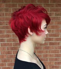 Long Red Pixie Hairstyle