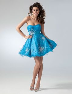 2011 Short formal dresses - Blue or Purple strapless party dress | Promgirl.net