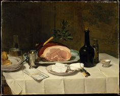 Philippe Rousseau (French 1816–1887).Still Life with Ham,  1870s. The Metropolitan Museum of Art, New York.  Catharine Lorillard Wolfe Collection, Wolfe Fund, 1982, (1982.320).
