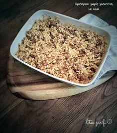 Το αγαπημένο φαγητό των παιδικών μας χρόνων με κιμά από ζυγούρι και κριθαράκι χωρίς γλουτένη.