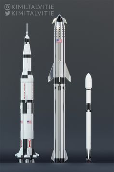 SpaceX Starship + Super Heavy compared to Saturn V & Falcon 9 by Kimi Talvitie - MeinPin Tesla Spacex, Spacex Starship, Spacex Rocket, Space Exploration Technologies, Spaceship Concept, Nasa Spaceship, Space And Astronomy, Space Program, Space Shuttle
