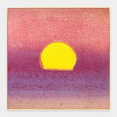 Andy Warhol: Sunset Framed Print from 1972.  It's simple and beautiful, I like it !  Of course, I love the daily sunsets too !