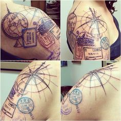 travel tattoo sleeve - Google Search