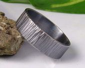 Sterling silver band ring 8x1.2mm , men's band,Womens ring,wedding band ring - 925 ,oxidized, textured