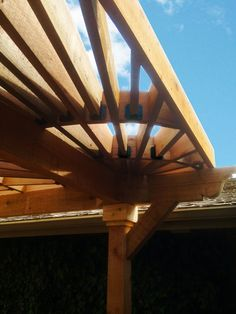 Pergola work of art using OWT Laredo Sunset Joist Hangers from OZCO's Line of Products (Item #56639, Item #56640, Item #56669, Item #56670).  Also available in Ironwood (http://www.ozcobp.com/ironwood.html) From simple DIY Projects in the Garden, Home or Outdoor Living Space to customized & inspiring projects built by Pro's & we love to recognize greatness and encourage others in their pursuit of #OWTstanding Quality Projects! OZCO is always updating our library of FREE How To's & Project…