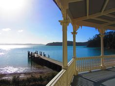 View from master bedroom at Mansion House, Kawau Island, NZ Mansions Homes, Stunningly Beautiful, Dna, New Zealand, Places Ive Been, Master Bedroom, Pergola, Outdoor Structures, Island
